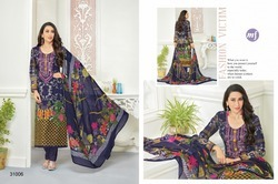 Round Neck Essenza Salwar Suit Fabric