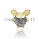 Diamond Mouse Mid Ring Jewelry