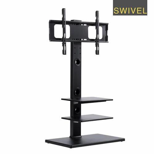 Led Tv Floor Stand Floor Tv Stand With Universal Swivel Bracket