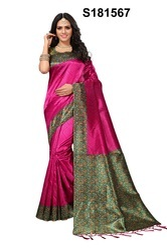 651b0c896cf58c Banarsi Silk With Zari Border - Multicolour Banarasi Silk Sarees ...
