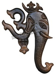 Omkar Ganesha Wall Hanging In Metallic Color