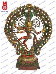 Natraj Dancing W/Oval Yeli Ring Statue