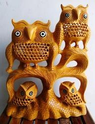 Wooden Undercut Family Owl