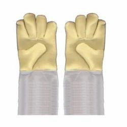 Para Aramid Palm with Pure Chrome Hand Glove