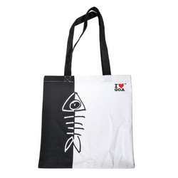 Black and White Cotton Promotional Bags