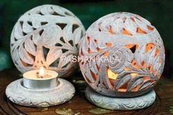 Soapstone Tea Light Ball