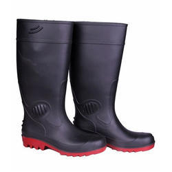 Dragon Black Red Safety Gumboots