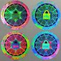 Dot Matrix Hologram Sticker