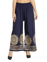Skit Fit Rayon Fall Print Palazzo Pants For Women