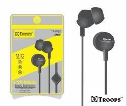 Troops Tp-7063 Universal Earphone With Mic