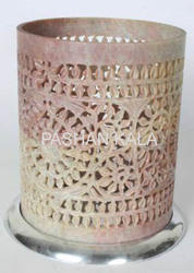 Soapstone Handicrafts Candle Holder