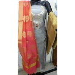 Aaditri Unique Chanderi Gota Patti Dress Material