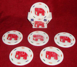 Marble Inlay Coasters