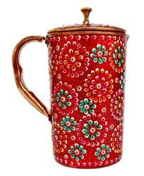 Copper Jug With Meena Work