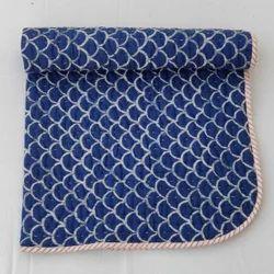 Hand Block Print Indigo Pattern Baby Patterns Kids Quilt