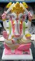 Marble Ganesha Statue Colorful