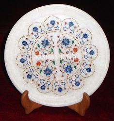 Round Stone Pietra Dura Plate