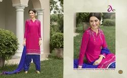 3/4 Sleeve Saina Salwar Suit Fabric