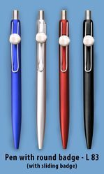 Pen With Round Badge