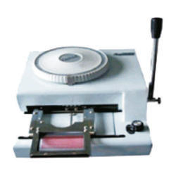 Embossing Machine for Cards