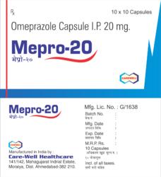 Mepro 20 Omeprazole