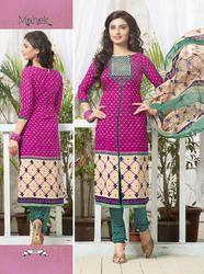 Crepe Printed Dress Material