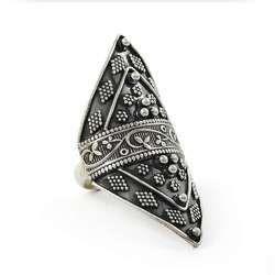Fantabulous Rava Work 925 Sterling Silver Ring