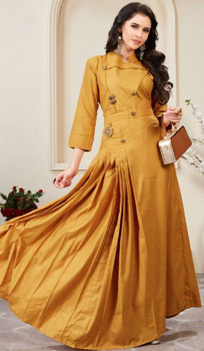 39c2310d7d Ladies Kurti - Buy Cotton and Jacquard Silk Gown Catalog at wholesale rate  in Surat Manufacturer from Surat