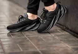 Black Canvas Adidas Shark Shoes, Size