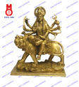 Goddess Durga On Lion Sq. Base Carved Statues