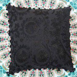 Black Embroidery Cushion