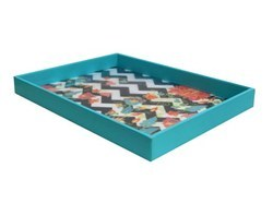 MDF Wood Canvas With Leatherette Tray