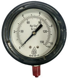 H.GURU 100MM Weatherproof Pressure Gauge, Back/Bottom Mount