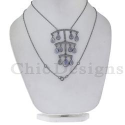 Rainbow Moonstone Designer Necklace