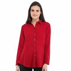 Cottinfab Women's Casual Solid Shirt