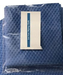 S Protection Lint free Cleaning Wipes 100% Polyester Size 9x9 Weight 240 GSM Grain Dotted Color Blue