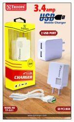 3..4  2 USB Square Adapter