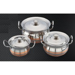 Copper Line and Copper Designer Matrix Serving Bowl Set