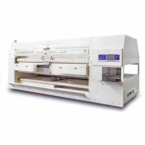 Bed Sheet Ironing With Folding Machine   Flat Work Ironing With Folding  Machine Wholesale Distributor From Morbi