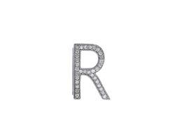 Diamond R Letter Belt Buckle Findings