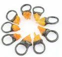 Raw Color Druzy Gemstone Rings