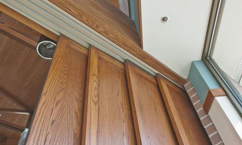 Manual Doors System Telescopic Sliding Wood Door Systems