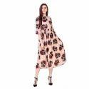Floral Designer Midi Dress