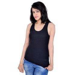 Letizia Black Racer Back Tank Top
