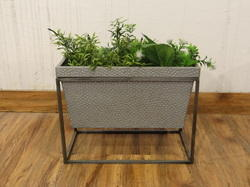 Galvanised Rectangular Planter With Stand