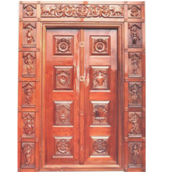 Mythological Temple Door