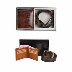 Leather Wallet & Belt Set