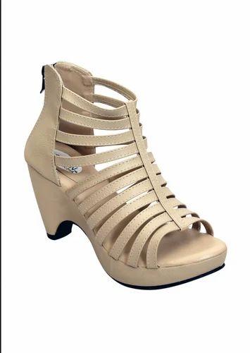 4fffb3bddb2d Nude heels - Remson India Beige Womens Block Heel Gladiators Ecommerce Shop    Online Business from Bengaluru