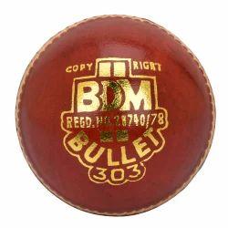 BDM Red Bullet Cricket Ball