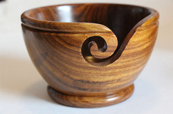 Wood Yarn Bowl - Sheesham/Rosewood